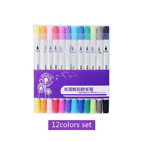 YOFO Doppelseitige Wet-Erase-Marker, Verschiedene Farben, Whiteboard, 12-Count-Marker (Whiteboard Erase)