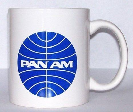Pan Am Pan American Airlines Coffee Cup Mug Vintage Logo Pilot Aviation Aircraft Jet