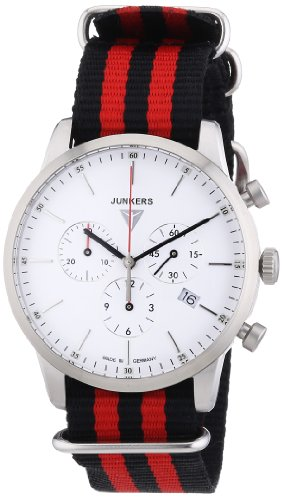Junkers Watches Herren-Armbanduhr XL Chronograph Quarz Textil 6C86-1