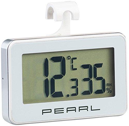 PEARL Digitalthermometer: Digitales Kühlschrank-Thermometer und -Hygrometer mit Haken (Thermohygrometer)