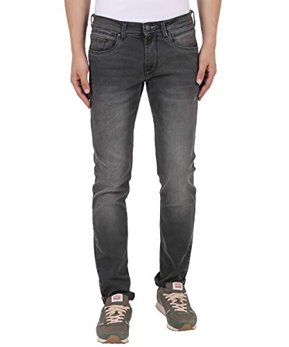 TURMS Stain Repellent & Odour Free The Crusader Grey Slim Fit Jeans Waist:38 Length:34