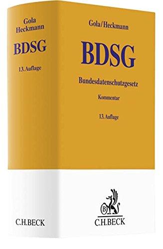 Bundesdatenschutzgesetz (Gelbe Erläuterungsbücher)
