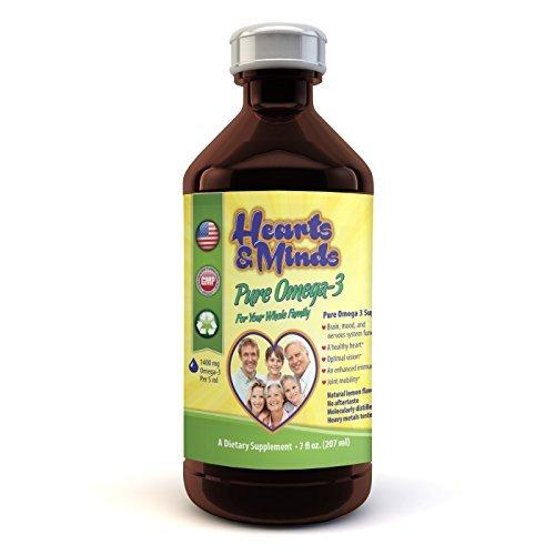Omega-3 Ultimate EPA DHA Liquid Supplement for Kids, Teens, Adults,