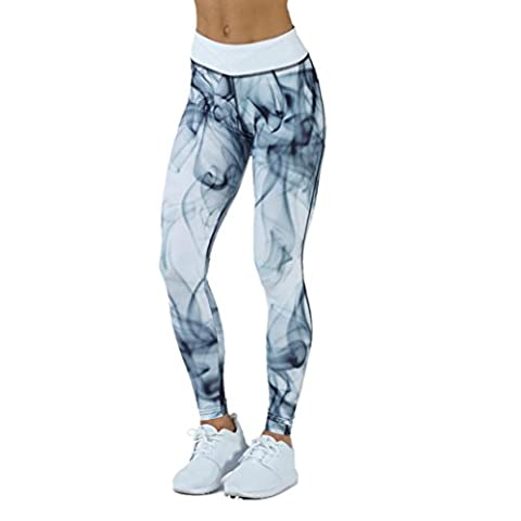DOLDOA Frauen Sport Gym Yoga Workout Laufen Hosen Fitness Elastische Hohe Taille Legging (B - Schwarz, EU: 36)