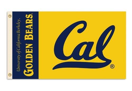 NCAA Flagge mit Ösen, 91 x 152 cm, Herren,Unisex-Erwachsene, Damen, California Golden Bears, 3' x 5' - Golden Bears Basketball