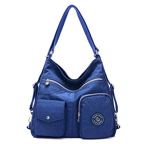 Xisimei Rucksack Wasserdicht Leinwand GroßE Handtasche Mit Vielen FäChern Handtasche UmhäNgetasche Mode Handtasche Damen Grau füR Damen Handtaschen Damen Handtaschen Innentaschen füR Handtaschen