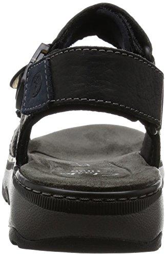 Clarks Raffe Sun Herren Sandalen Schwarz (Black Leather)