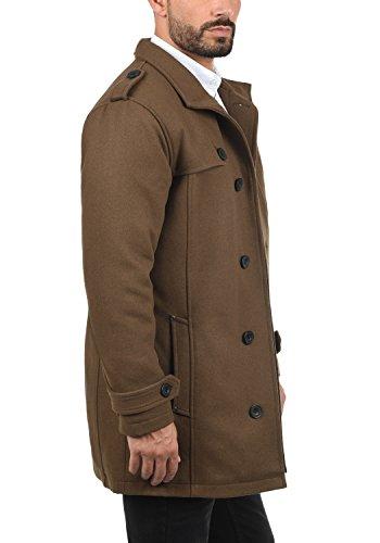 Blend Warren Herren Winter Mantel Wollmantel Lange Winterjacke mit Stehkragen, Größe:L, Farbe:Camel Brown (71517) - 3