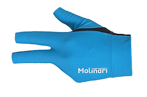 Molinari Billard Handschuh cyan, linke Hand