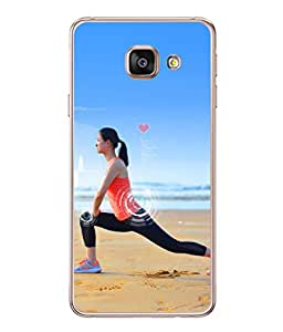 Samsung Galaxy A3 (6) 2016, Samsung Galaxy A3 2016 Duos, Samsung Galaxy A3 2016 A310F A310M A310Y, Samsung Galaxy A3 A310 2016 Edition Back Cover Lady Doing Yoga Design From FUSON