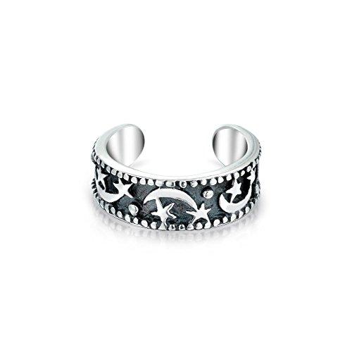 Bling Jewelry Silber 925 Planeten Mond und Sterne Ohr Manschette Band ein Stück