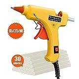 Hot Glue Gun, TopElek 15W/25W Dual Power Mini Glue Gun with Sticks(30pcs,7mm), High