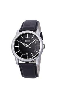 Hugo Boss 1512624 - Reloj analógico de mujer de cuarzo con correa de piel negra de Boss