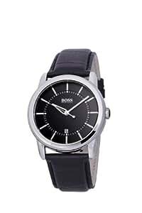 Hugo Boss - 1512624 - Montre Homme - Quartz Analogique - Cadran - Bracelet Cuir Noir
