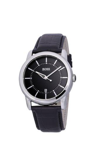 Hugo Boss 1512624 - Reloj analógico de mujer de cuarzo con correa de piel negra