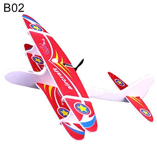 pittospwer elektrische Hand werfen Schaum Flugzeug DIY montiert Motor Segelflugzeug Modell Kinder Spielzeug Geschenk -
