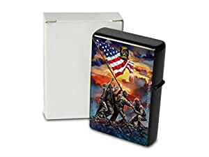 Petrol Lighter Printed USA Flag soldiers