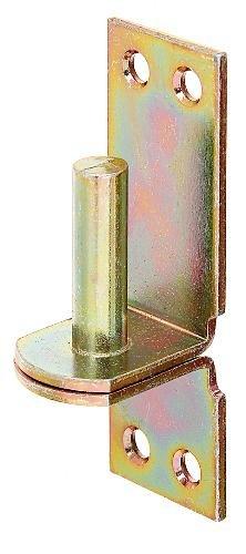 Gah-Alberts 311438 - Cardine su piastra, da avvitare, entrata 13 mm, distanza entrata / piastra 25mm, piastra 105 x 35 mm, , galvanizzato giallo, 1 unità - Entrata Unità