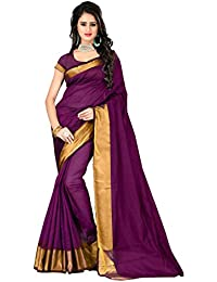 Om Tex Creation Women's Banglori Cotton Silk Saree