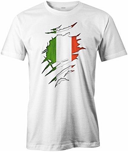 WM 2018 - Italia aufgerissen - Italien - Herren T-SHIRT Weiß