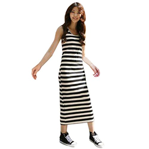 AMUSTER.DAN Mutter Tochter Kleider Familie Matching Stripe Girls Frauen Kleid Sundress (M, (Girl Womens Kostüme Höhle)
