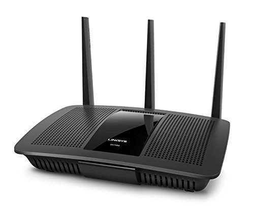 Linksys EA7500-EU Wireless Dualband MU-MIMO Gigabit Router (1x USB 3.0, 1x USB 2.0, 4x Gigabit, 3 x 3 Next AC-Generation Beamforming, Smart Wi-Fi App) - Linksys Antenne Kabel