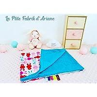 """BIO/couverture bébé/plaid bébé/cadeau naissance/collection"""" Bunny""""/cadeau noël/unique fait main"""
