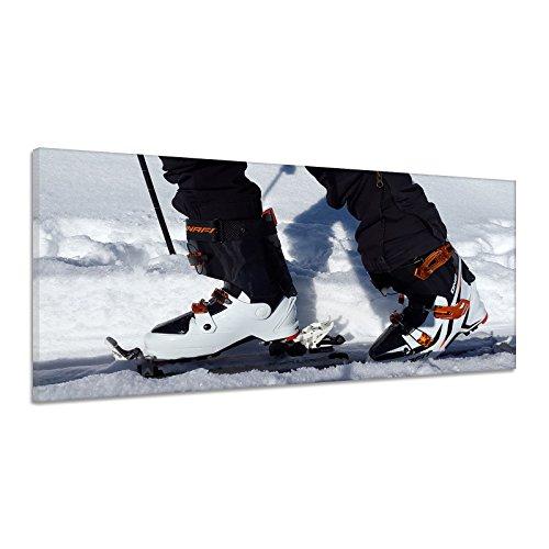 Ski Langlauf Bindung Schnee Winter Schuhe Leinwand Poster Druck Bild dd0331 100x50