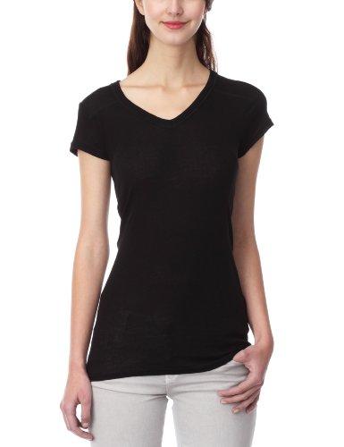 Hilfiger Denim Leela Vn Knit S/S - T-Shirt - Femme Noir