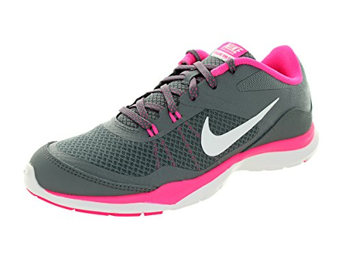 Nike - Wmns Flex Trainer 5, Sneaker Donna Gris (Cool Grey / White-Pnk Pw-Drk Gry)