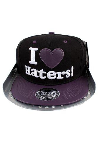 State Property I Love Haters PVC piatto Peak Baseball cappellino nero/viola Taglia unica