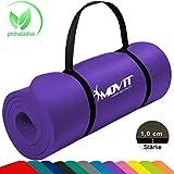 MOVIT® Tapis de Gymnastique Mat de Yoga sans phtalate Fitness Pilates/Sport/Gym SGS/Sol testé, Taille 183cm x 60cm, très épais Épaisseur: 1,0 cm en 12 Couleurs Rembourré
