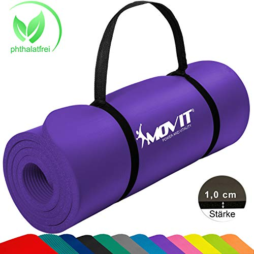 MOVIT Tapis de Gymnastique Mat de Yoga sans phtalate Fitness Pilates/Sport/Gym SGS/Sol testé,...
