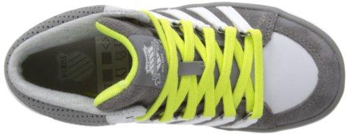 K-Swiss II Mid Vnz Scarpe da ginnastica, Unisex, Bambino Grigio (Carbon/Gull Gray/White/Optic Yellow)