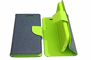 J.N. Mercury Fancy Diary Wallet Flip Case Back Cover forOnePlus One - Blue Green