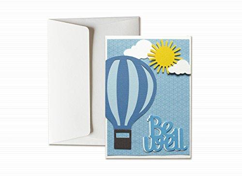 Be well - mongolfiera - biglietto d'auguri (formato 15 x 10,5 cm) - vuoto all'interno, ideale per il tuo messaggio personale - realizzato interamente a mano.