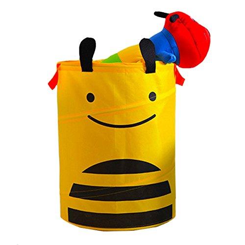 Aisi pieghevole grandi conchiglie Cute Cartoon Oxford panno Cestino Cesto Portaoggetti Organizer per la stanza dei bambini giocattoli, portabiancheria, Yellow, taglia unica