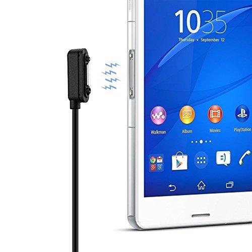 Preisvergleich Produktbild OKCS Magnet Ladekabel USB Sony Xperia Z1,  Z1 Compact,  Z2,  Z2 Tablet,  Z3,  Z3 Compact,  Z3 Tablet Compact,  Z4 Tablet Compact - 2 M in Schwarz