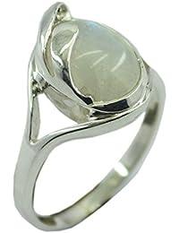 55Carat Genuine Red Coral Silver Ring For Women Adjustable 3 Carat Sterling Astrological Size UK I-Z
