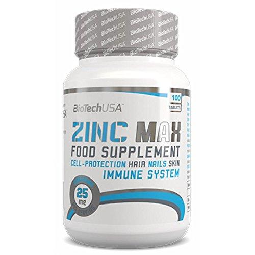 Biotech USA Zinc Max 100 Tabletten, 1er Pack (1 x 100 g)