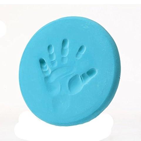 Covermason Baby Handprint Fingerprint Footprint Casting Air Drying Soft Clay Imprint Ink Pad Keepsake (Light