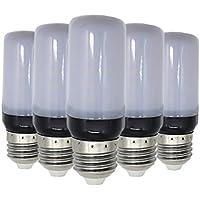 WELSUN E27 LED Lámpara de maíz 5736 SMD 5W 400~500lm 30LED Blanco frío LED de luz blanca de maíz AC 220~240V (5PCS) (Color : Blanco cálido)
