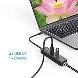 USB C 3.1 Zu RJ45 Gigabit Ethernet 1000 Mbps Adapter 3USB 3.0 Ports Typ C Hub mit Halter Für MacBook Notebook,Black