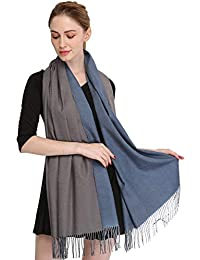 "Longwu Wrap Scialle Wrap Scialle per Donna Inverno Extra Large (79""X 28"") Uomo Solid Lambswool Pashmina Sciarpa"
