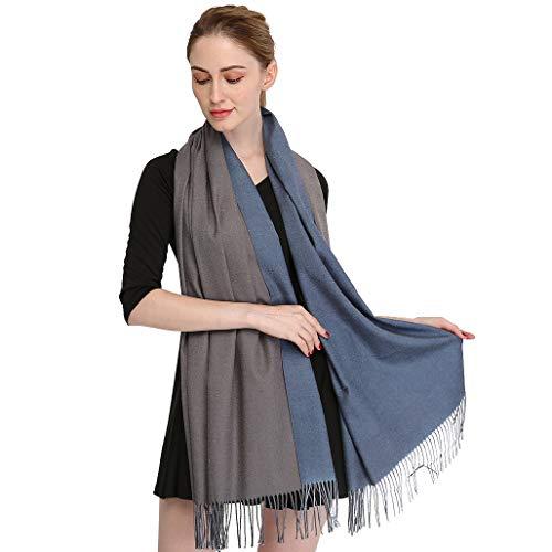 5e6ecaeb824f Longwu Cashmere Wrap Shawl Stole for Women Winter Extra Large(79