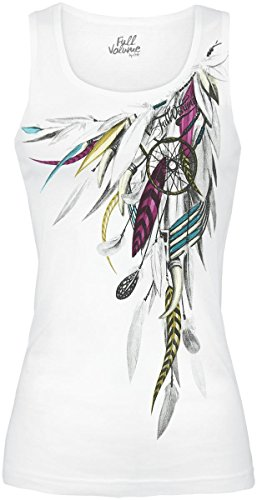 Full Volume by EMP Dreamcatcher Top donna bianco XXL