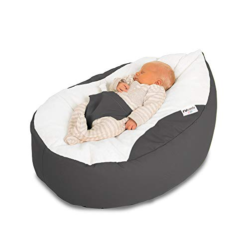 rucomfy Sitzsack Luxury Cuddle Soft Gaga Baby Sitzsack (grau)