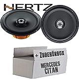 Hertz DCX 165.3-16cm Koax Lautsprecher - Einbauset für Mercedes Citan Front - JUST SOUND best choice for caraudio