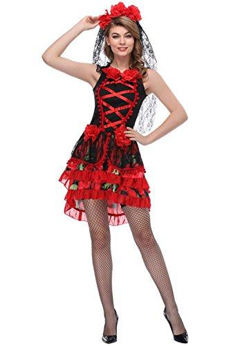 Kostüme Halloween Braut Skelett Tod Geist Sträfling Zombies (Braut Des Todes Halloween)