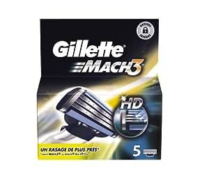Gillette Lames Mach 3 Manuel Testé Dermatologiquement x 5
